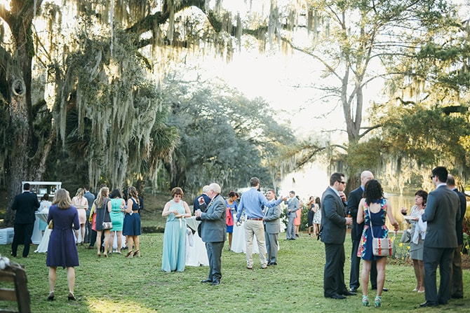 Wedding party in woodland | Stunning Southern Plantation Wedding | Gideon Photography