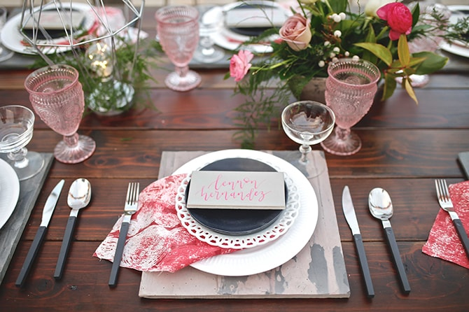 Red and black wedding stationary | Urban Chic City Wedding at Horton Plaza | Willmus Weddings