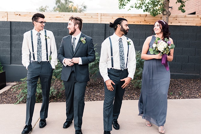 Groomsmen and Groomswoman | Casually Modern Wedding Inspiration | Mindy DeLuca Photography