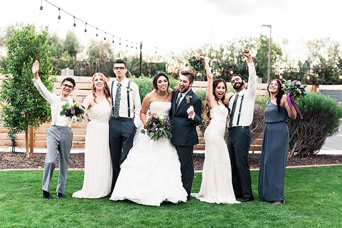 Wedding party | Casually Modern Wedding Inspiration | Mindy DeLuca Photography
