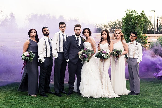 Stylish wedding party | Casually Modern Wedding Inspiration | Mindy DeLuca Photography