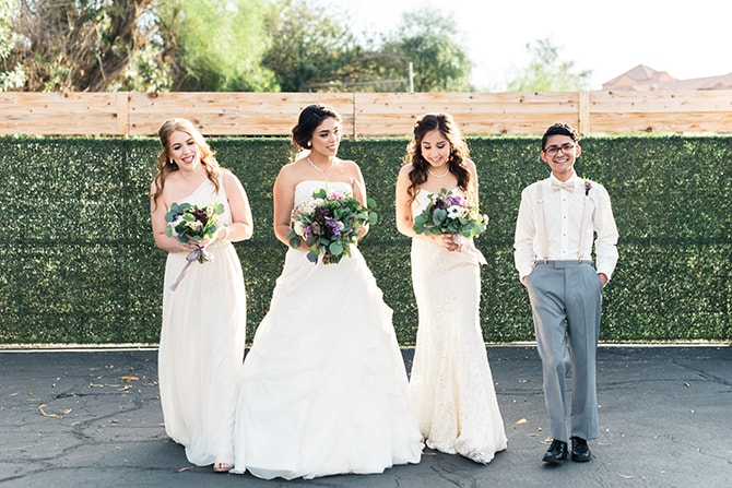 Bridesmaids and Bridesman | Casually Modern Wedding Inspiration | Mindy DeLuca Photography