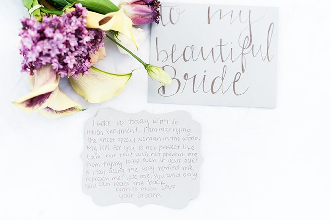 Love letters | Casually Modern Wedding Inspiration | Mindy DeLuca Photography