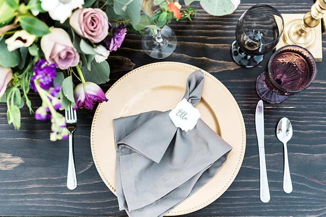 Grey wedding dining | Casually Modern Wedding Inspiration | Mindy DeLuca Photography