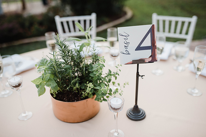 Wedding table numbers | Countryside Sunset Wedding in Texas | Rebecca Chesney Photo