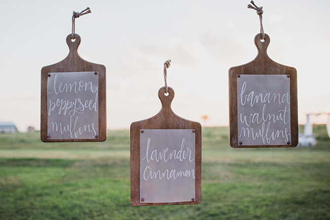 Cake names | Countryside Sunset Wedding in Texas | Rebecca Chesney Photo