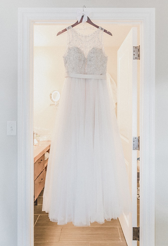 Wedding dress | Minmalistic Industrial Retreat in Southern Wisconsin | Erik Anderson