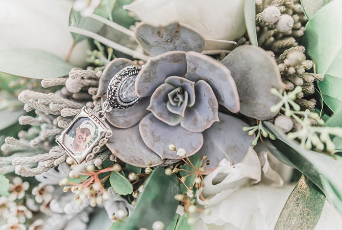 Modern succulent bridal bouquet | Minmalistic Industrial Retreat in Southern Wisconsin | Erik Anderson