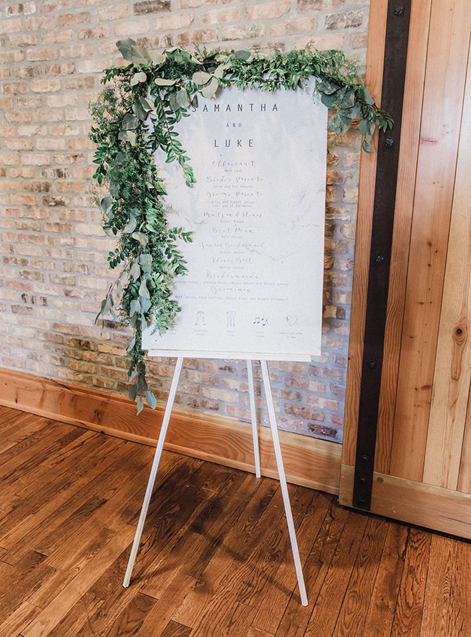 Modern nordic style wedding seating plan | Minmalistic Industrial Retreat in Southern Wisconsin | Erik Anderson