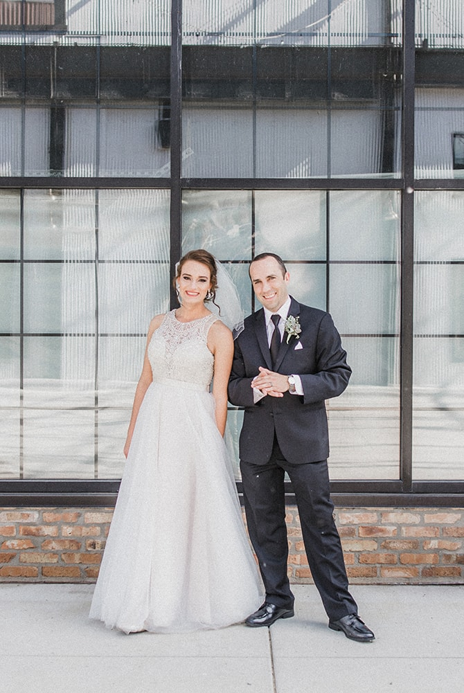 Modern bride and groom | Minmalistic Industrial Retreat in Southern Wisconsin | Erik Anderson