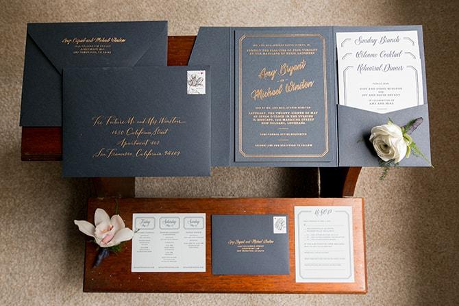Modern wedding stationery | Sophisticated New Orleans Nuptials | Arte De Vie