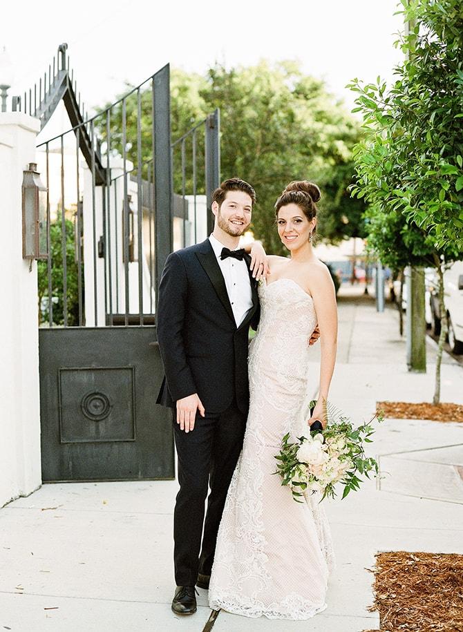 Smiling bride and groom | Sophisticated New Orleans Nuptials | Arte De Vie