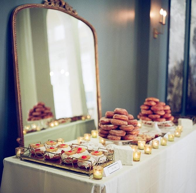 Dessert table | Sophisticated New Orleans Nuptials | Arte De Vie