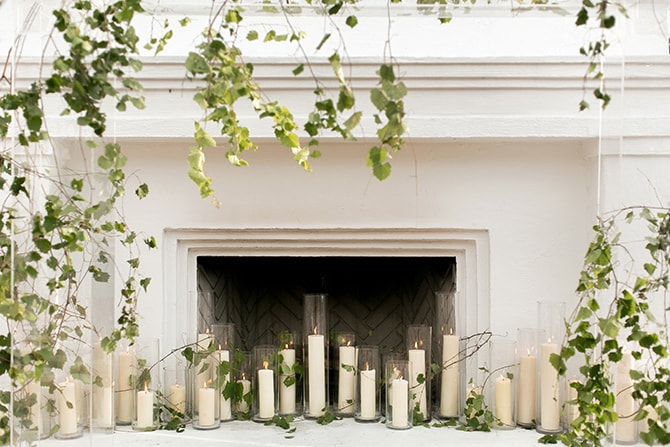 Candles at wedding ceremony | Sophisticated New Orleans Nuptials | Arte De Vie