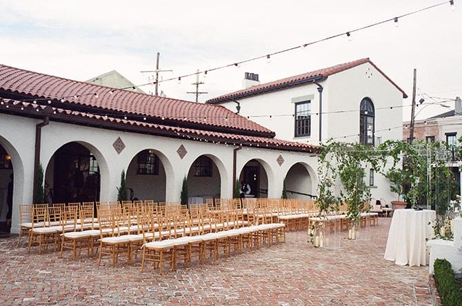 Outdoor wedding ceremony | Sophisticated New Orleans Nuptials | Arte De Vie