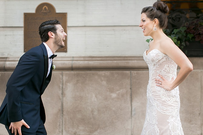 Wedding first look | Sophisticated New Orleans Nuptials | Arte De Vie