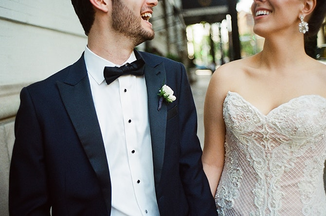 Bride and groom smiling | Sophisticated New Orleans Nuptials | Arte De Vie