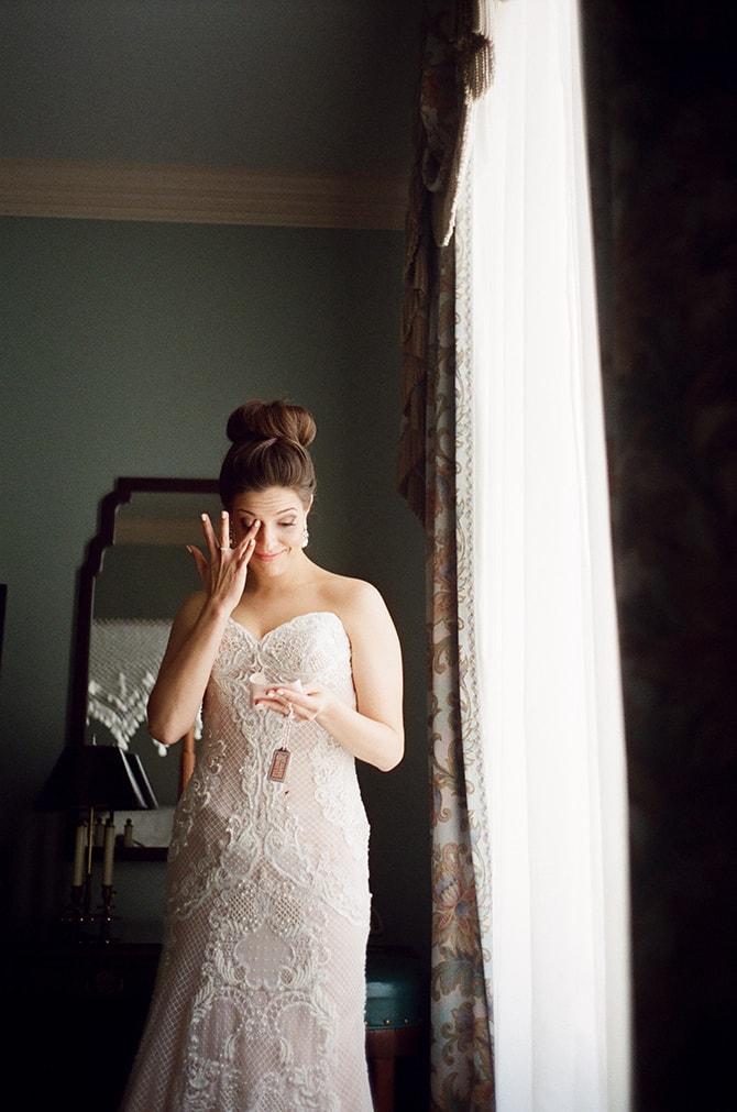 Bride in tears | Sophisticated New Orleans Nuptials | Arte De Vie