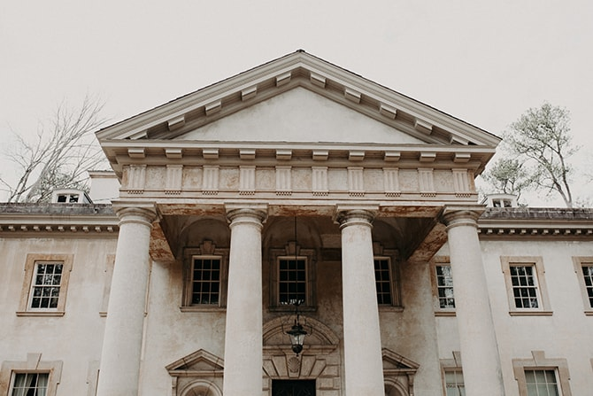 The Swan House | Glamorous Spring Wedding Portraits at The Swan House | Aline Marin Photography