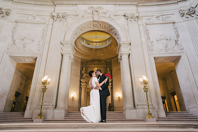 San Francisco City Hall wedding | Intimate Ceremony at San Francisco City Hall | IQphoto Studio