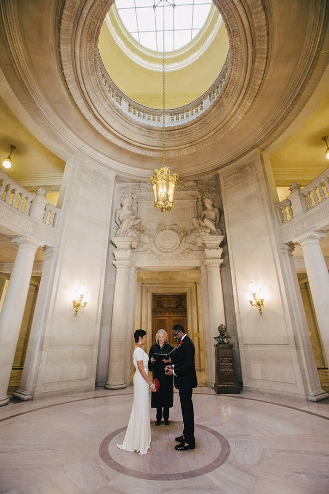 San Francisco Town Hall Ceremony | Intimate Ceremony at San Francisco City Hall | IQphoto Studio