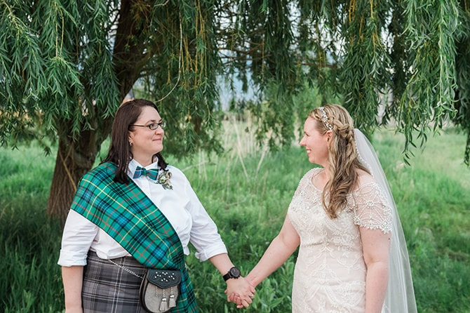 Brides in love | Scottish Inspired Wedding in Utah | Derek Chad Photography
