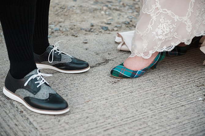 Bridal shoes | Scottish Inspired Wedding in Utah | Derek Chad Photography