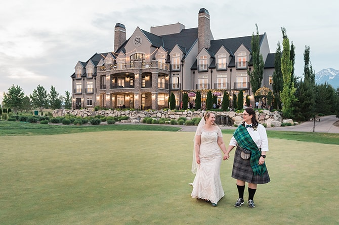 Brides at Sleepy Ridge Golf Course | Scottish Inspired Wedding in Utah | Derek Chad Photography
