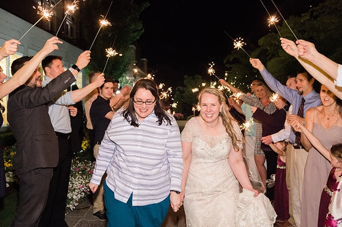 Sparkler exit | Scottish Inspired Wedding in Utah | Derek Chad Photography