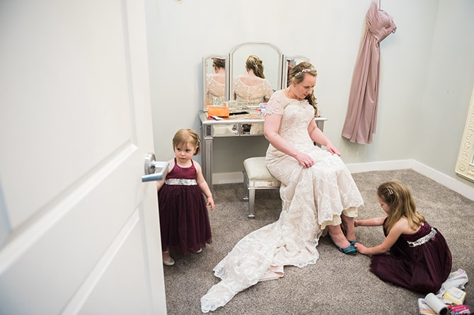 Bride getting ready | Scottish Inspired Wedding in Utah | Derek Chad Photography