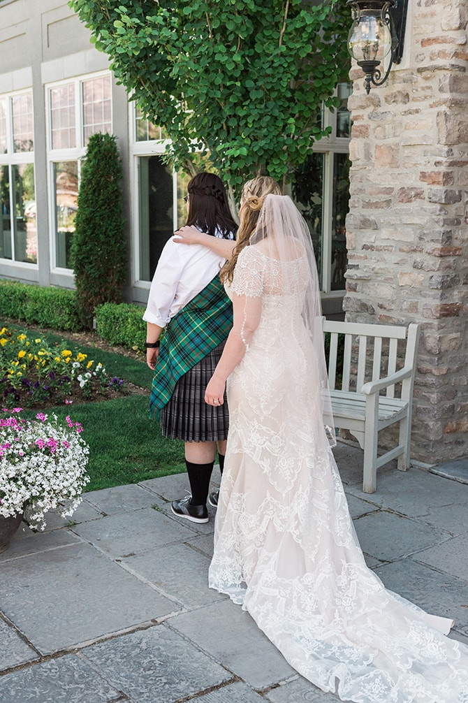 Brides first look | Scottish Inspired Wedding in Utah | Derek Chad Photography