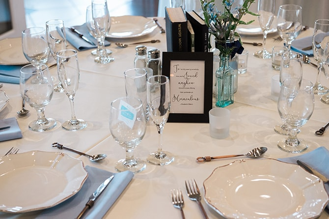 Wedding table | Scottish Inspired Wedding in Utah | Derek Chad Photography