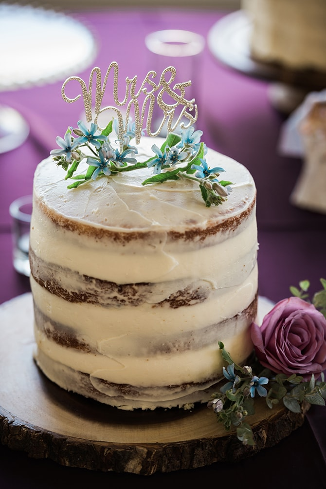 White naked cake | Scottish Inspired Wedding in Utah | Derek Chad Photography