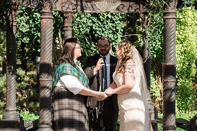 Wedding ceremony | Scottish Inspired Wedding in Utah | Derek Chad Photography