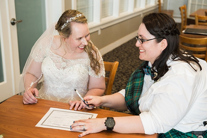 Registrar signing | Scottish Inspired Wedding in Utah | Derek Chad Photography