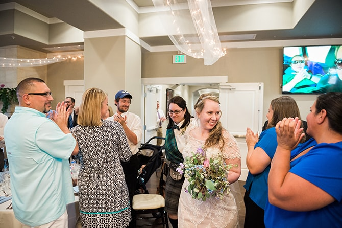 Brides arriving at reception | Scottish Inspired Wedding in Utah | Derek Chad Photography