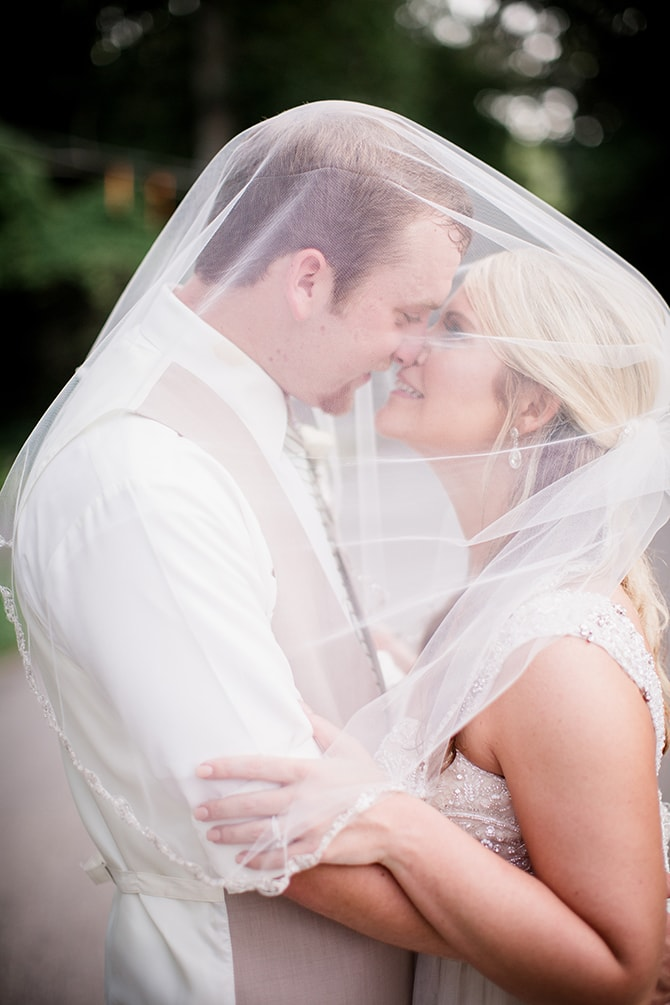 Couple under veil | Stylish and Modern Farm Wedding | Amanda May Photos