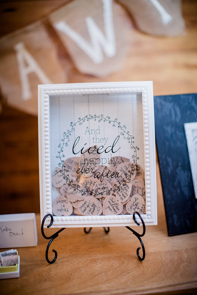 Wooden Wedding Guestbook | Stylish and Modern Farm Wedding | Amanda May Photos