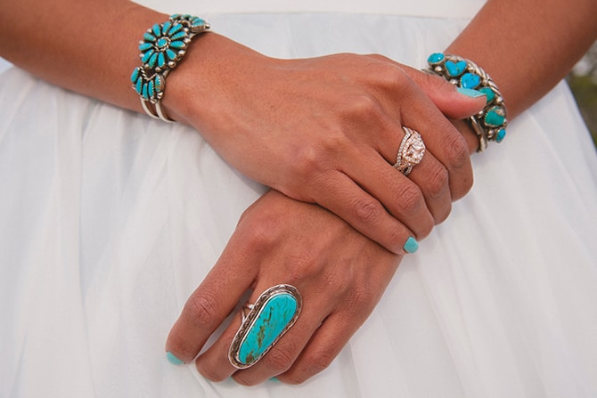 Turquoise bridal jewellery | Toroweap Princess | db Photography