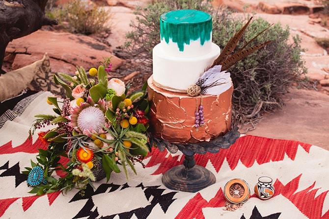 Boho style wedding cake | Toroweap Princess | db Photography