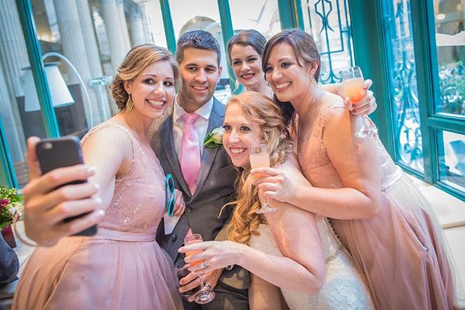 Wedding guests selfie | Travel Themed Intimate Wedding in Paris - Paris Photographer Pierre