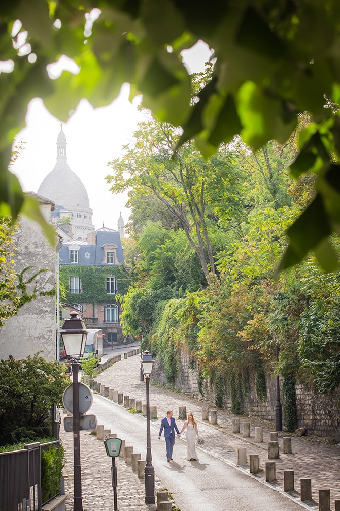 Walking through French streets | Travel Themed Intimate Wedding in Paris - Paris Photographer Pierre