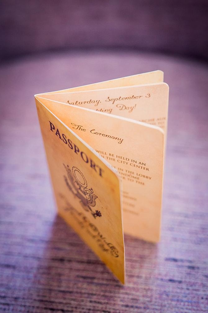 Passport wedding invitation | Travel Themed Intimate Wedding in Paris - Paris Photographer Pierre