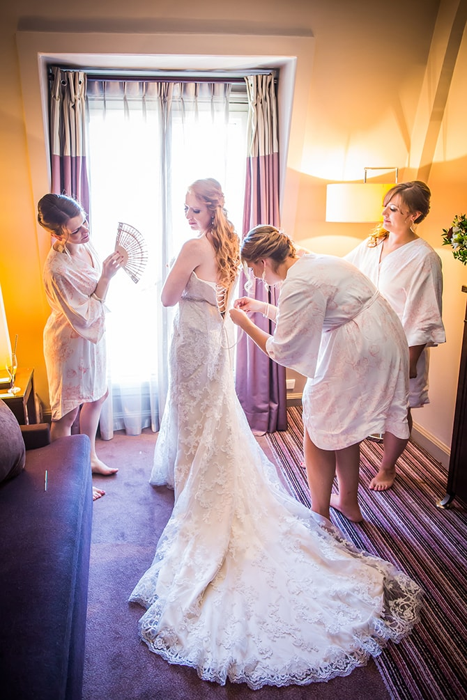 Bride getting ready | Travel Themed Intimate Wedding in Paris - Paris Photographer Pierre