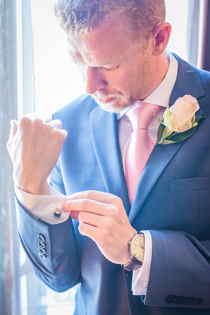 Groom getting ready | Travel Themed Intimate Wedding in Paris - Paris Photographer Pierre