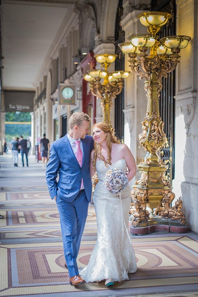 Couple walking to ceremony | Travel Themed Intimate Wedding in Paris - Paris Photographer Pierre