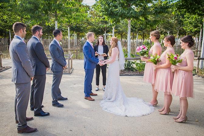 Wedding ceremony in park | Travel Themed Intimate Wedding in Paris - Paris Photographer Pierre