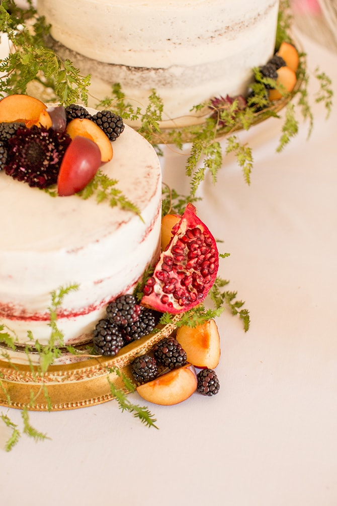 Wedding cakes with fruit | DIY Backyard Wedding in South Carolina | Jessica Hunt Photography
