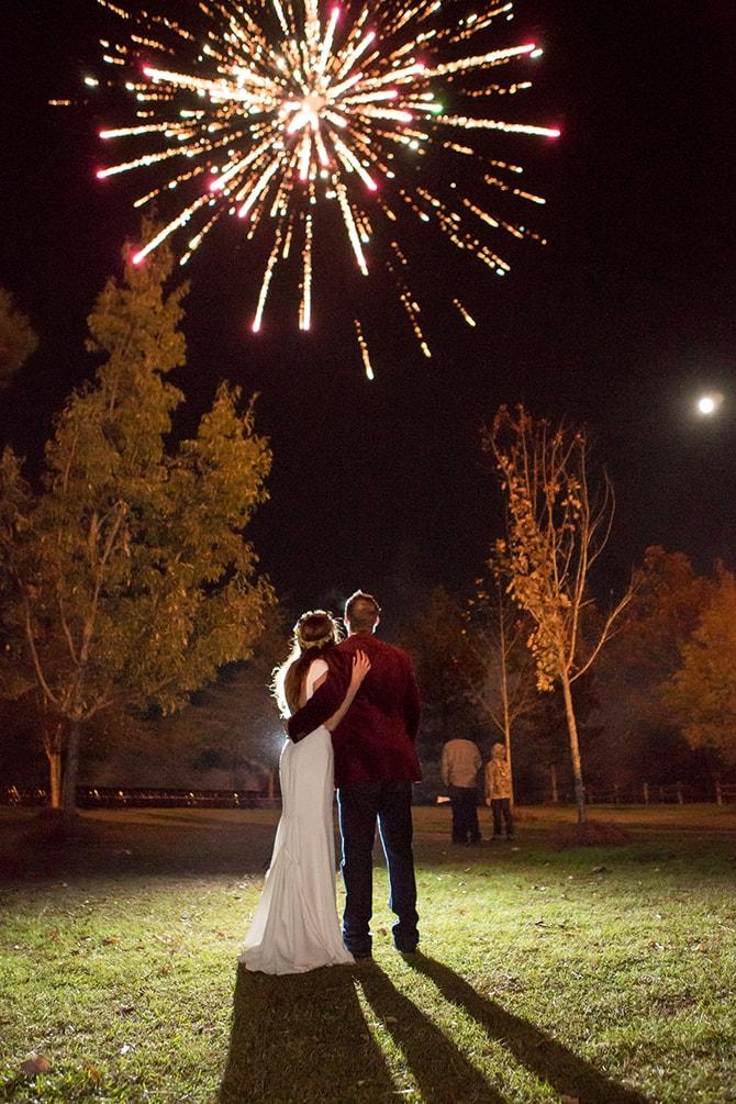 Wedding fireworks | DIY Backyard Wedding in South Carolina | Jessica Hunt Photography