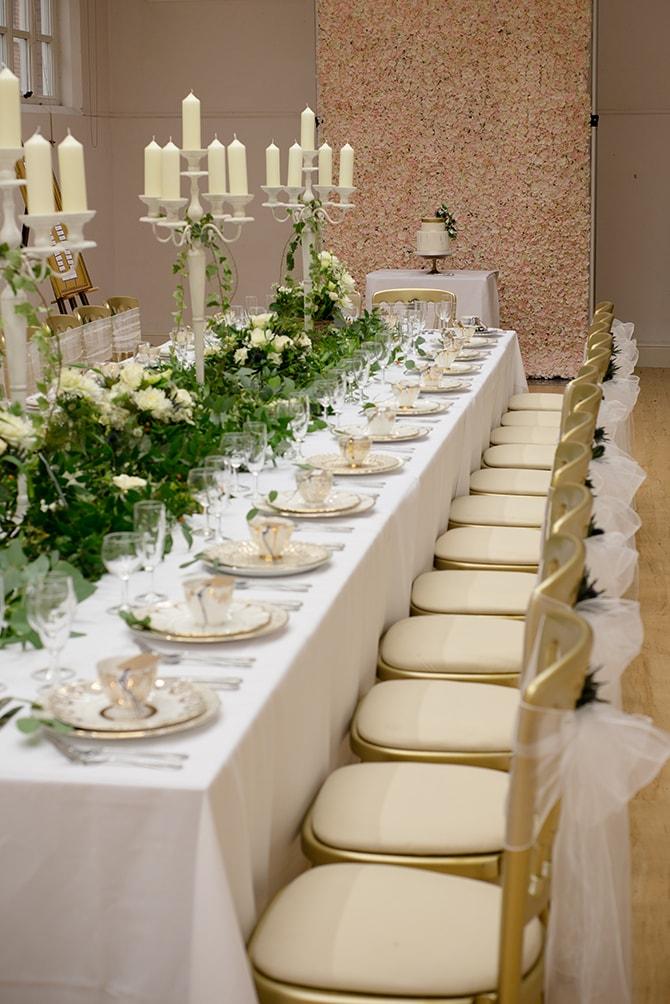 Long wedding tables | Beautiful Countryside Wedding Inspiration in Buckinghamshire | KLP Photography
